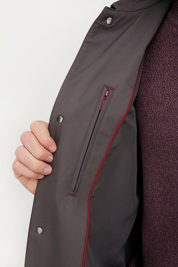 Классический плащ из технологичной ткани, Модель B21-21005, Фото №4