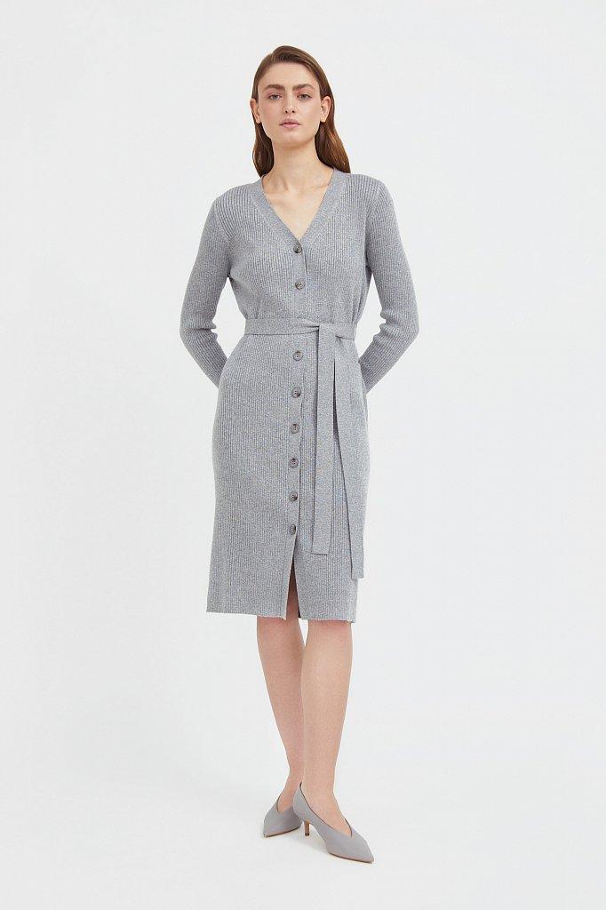 Трикотажное платье-рубашка, Модель B21-11143, Фото №1