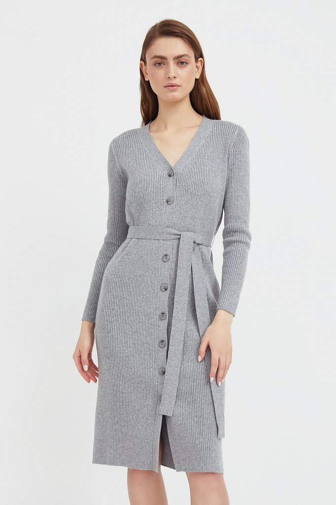 Трикотажное платье-рубашка, Модель B21-11143, Фото №2