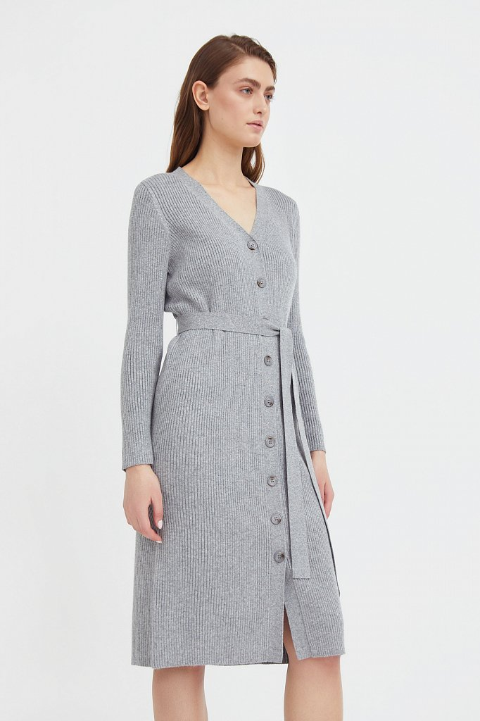 Трикотажное платье-рубашка, Модель B21-11143, Фото №3