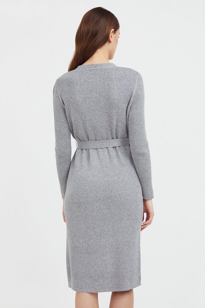 Трикотажное платье-рубашка, Модель B21-11143, Фото №4