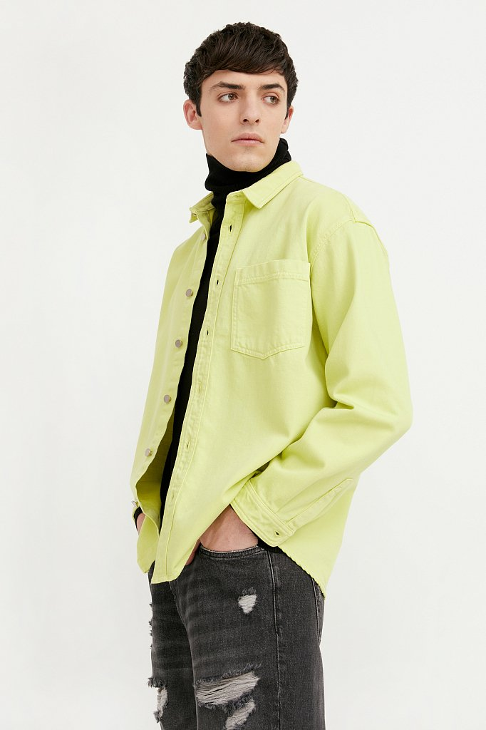 Рубашка мужская, Модель B21-25021, Фото №1