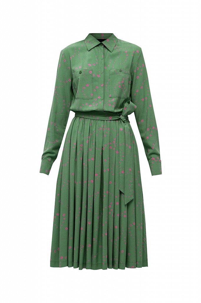 Платье-миди с цветочным принтом, Модель B21-32047, Фото №7