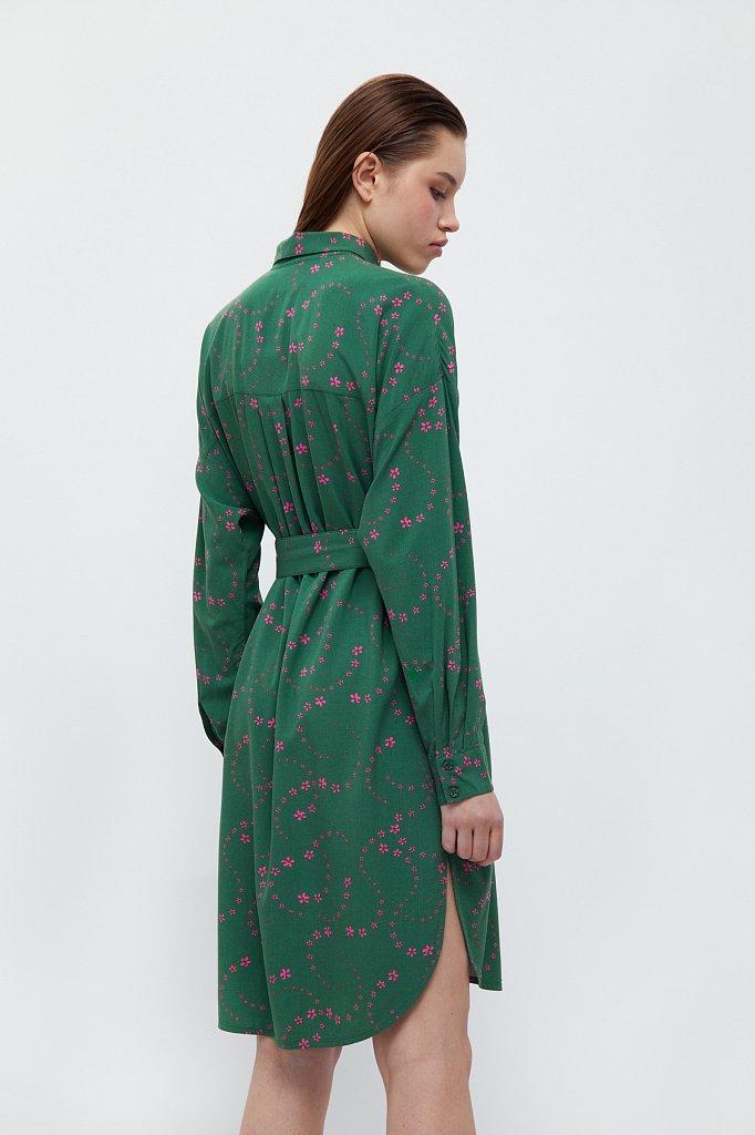 Платье-рубашка с цветочным принтом, Модель B21-32048, Фото №4