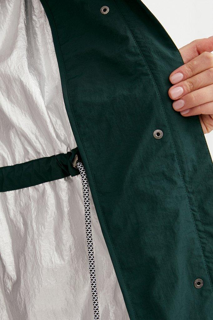 Плащ из технологичной ткани, Модель B21-11046, Фото №7