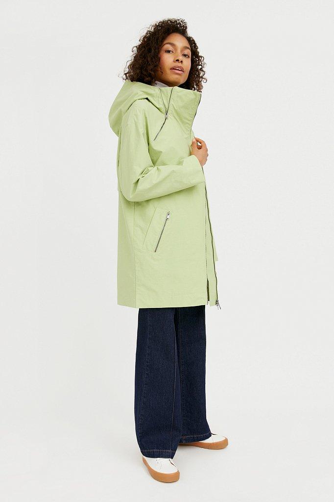 Непромокаемый плащ с капюшоном, Модель B21-11060, Фото №2