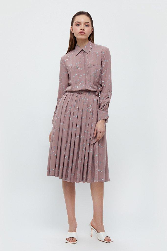 Платье-миди с цветочным принтом, Модель B21-32047, Фото №1
