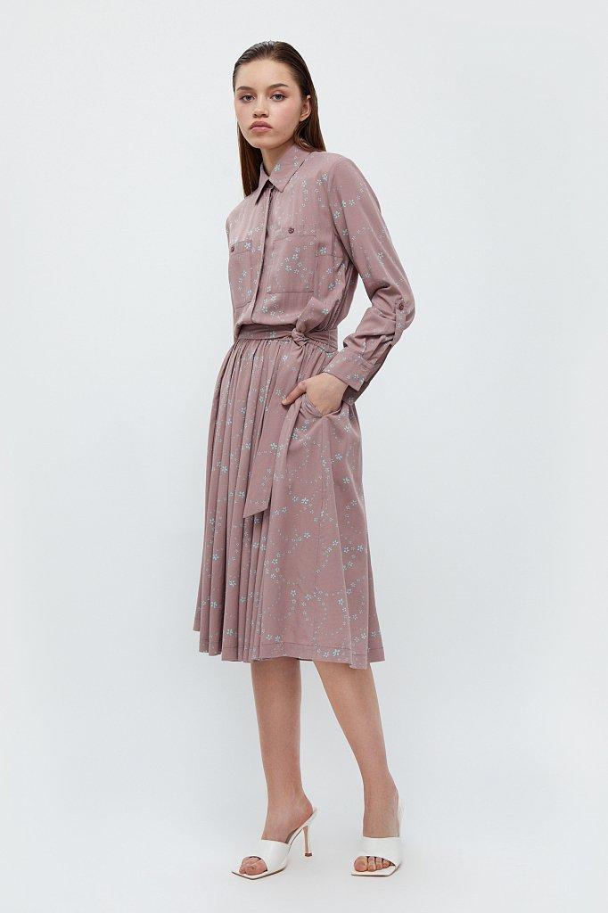 Платье-миди с цветочным принтом, Модель B21-32047, Фото №2