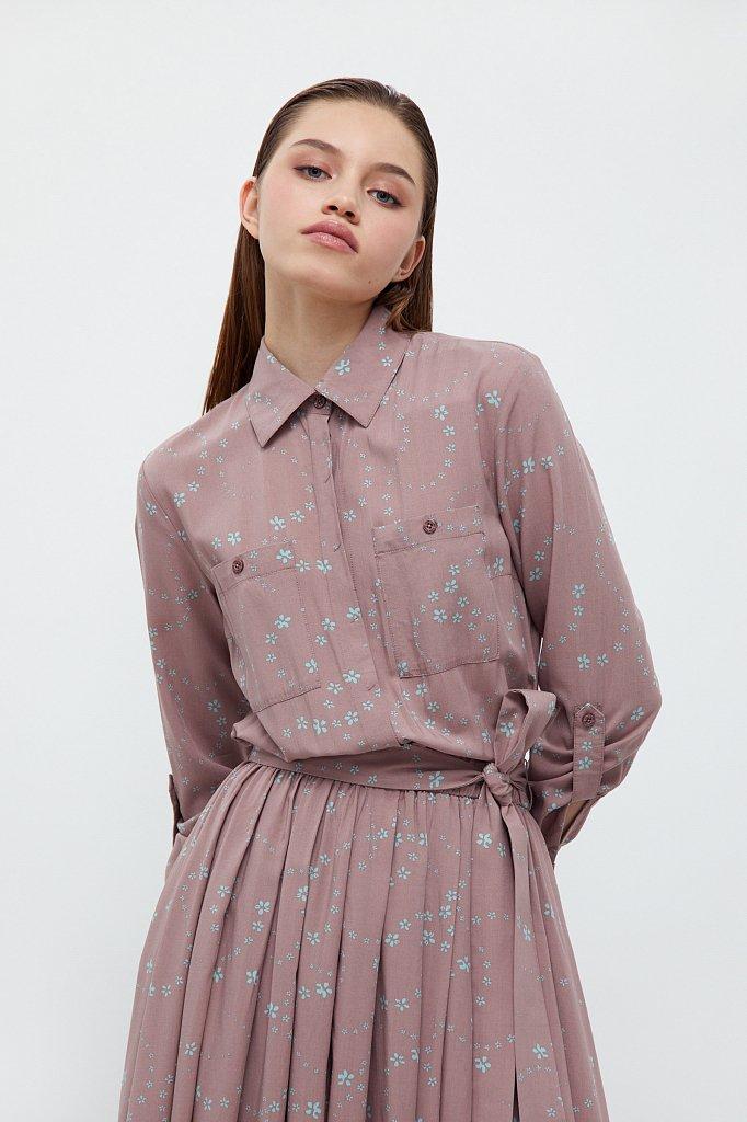 Платье-миди с цветочным принтом, Модель B21-32047, Фото №5