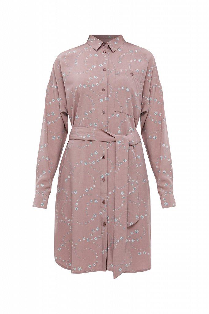 Платье-рубашка с цветочным принтом, Модель B21-32048, Фото №7