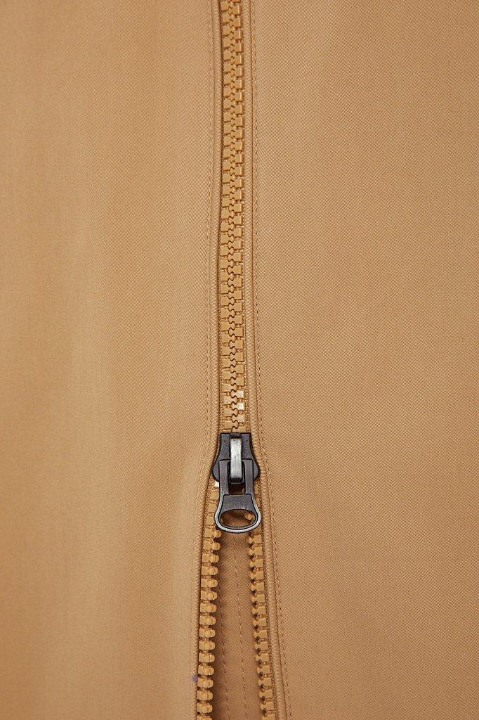 Непромокаемый плащ с капюшоном и подкладкой, Модель B21-12061, Фото №5