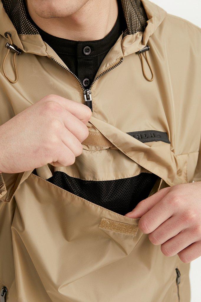 Непромокаемый анорак с капюшоном, Модель B21-42008, Фото №4