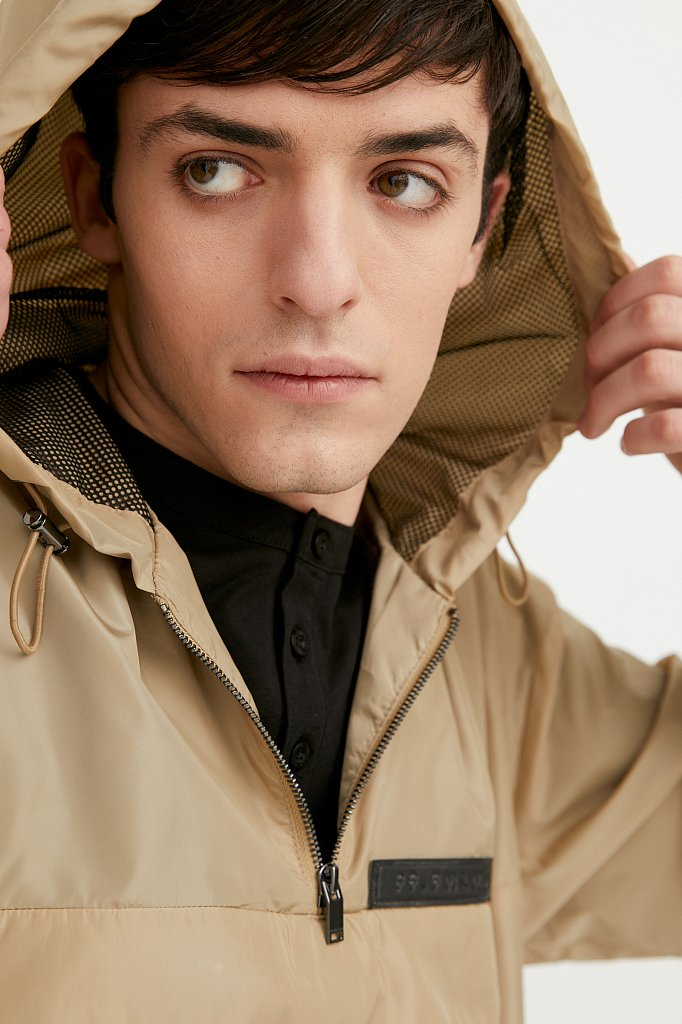 Непромокаемый анорак с капюшоном, Модель B21-42008, Фото №7