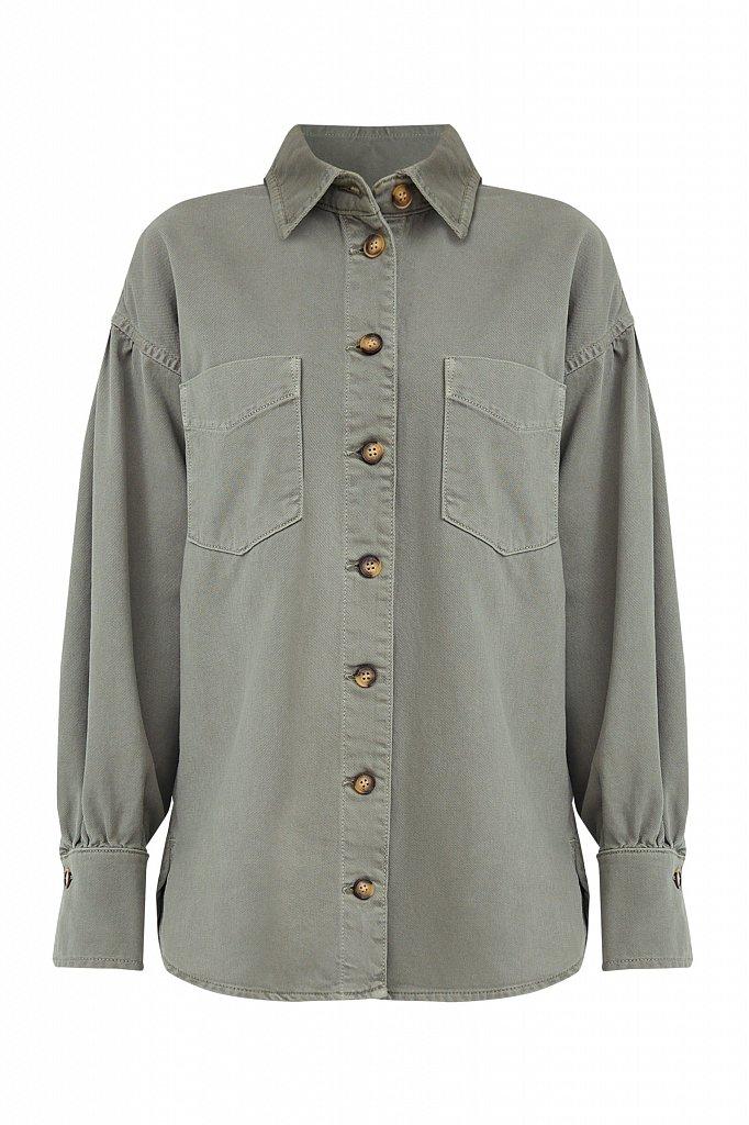 Блузка джинсовая женская, Модель B21-15031, Фото №8