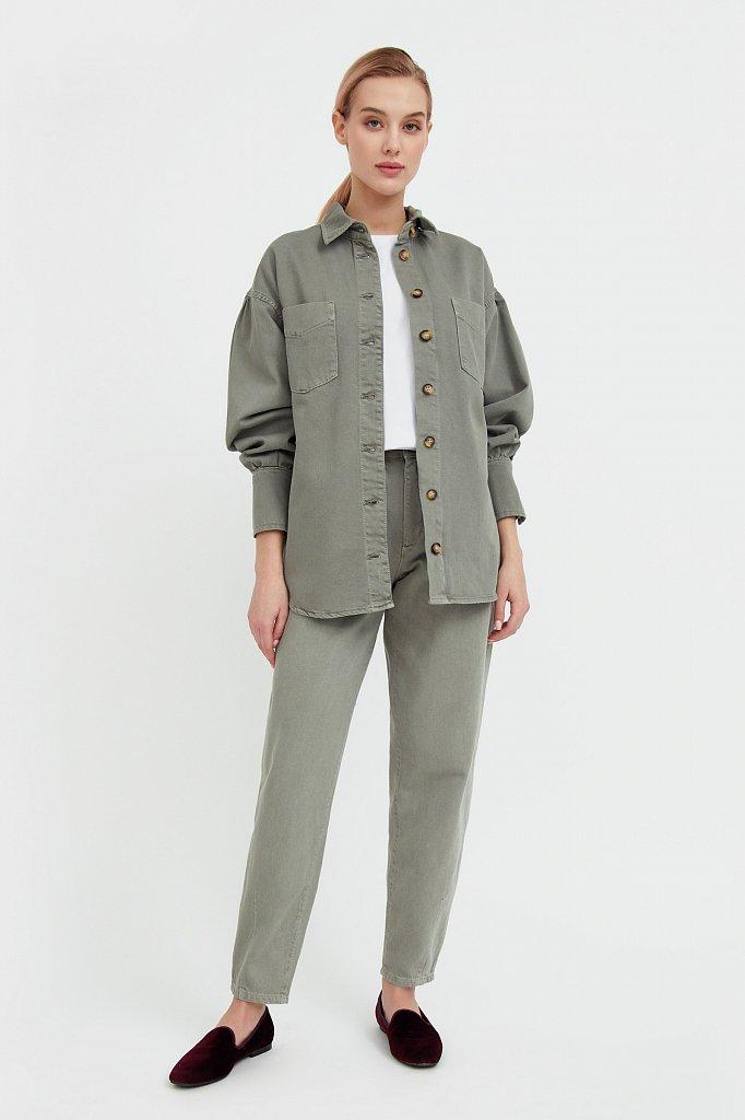 Блузка джинсовая женская, Модель B21-15031, Фото №3