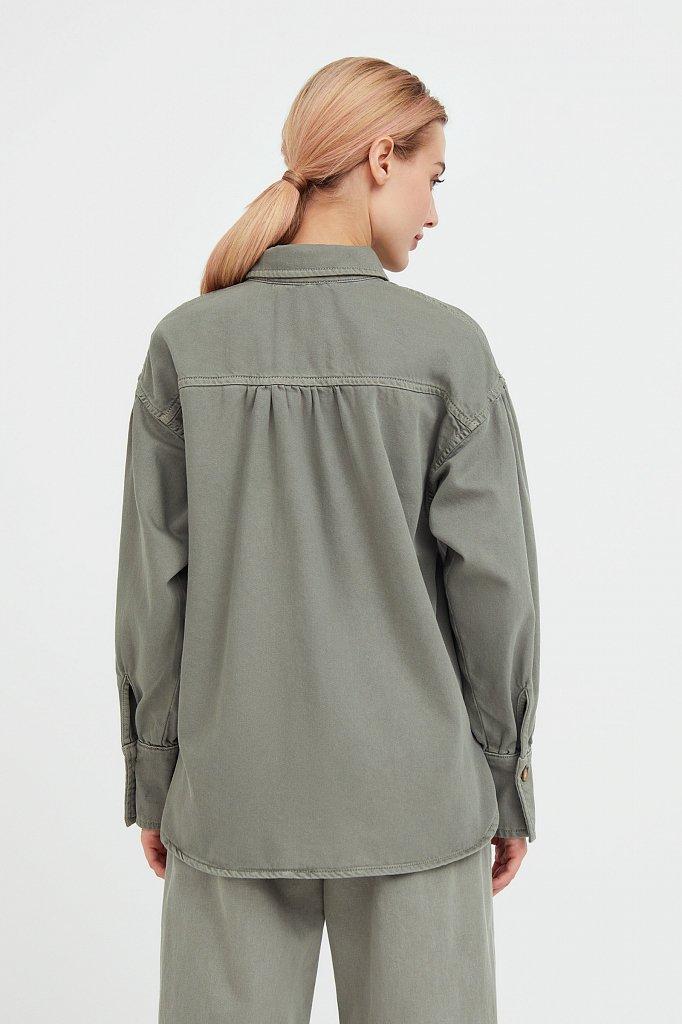 Блузка джинсовая женская, Модель B21-15031, Фото №5