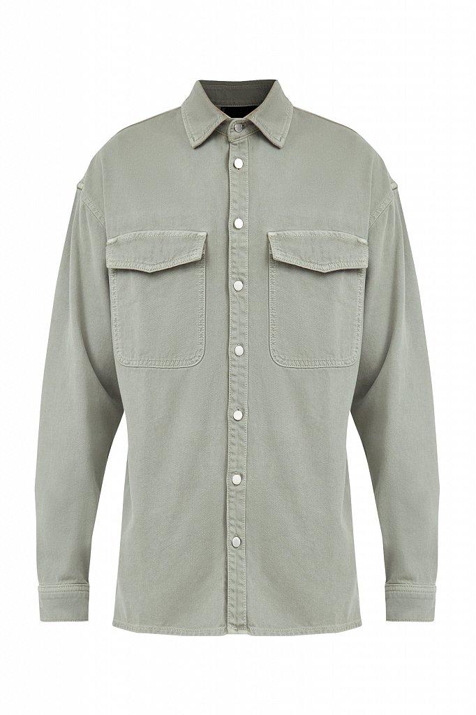 Рубашка из плотного хлопка, Модель B21-25020, Фото №7
