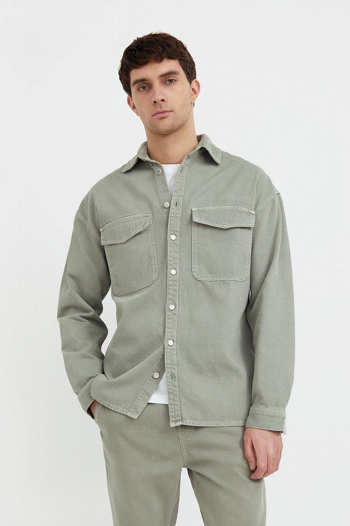 Рубашка из плотного хлопка, Модель B21-25020, Фото №1