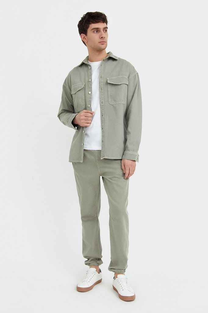 Рубашка из плотного хлопка, Модель B21-25020, Фото №2