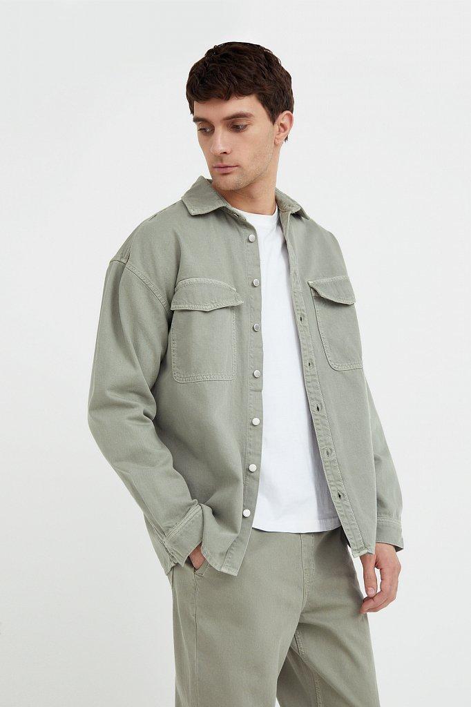 Рубашка из плотного хлопка, Модель B21-25020, Фото №3