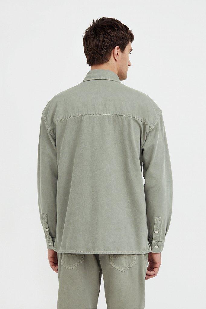 Рубашка из плотного хлопка, Модель B21-25020, Фото №4