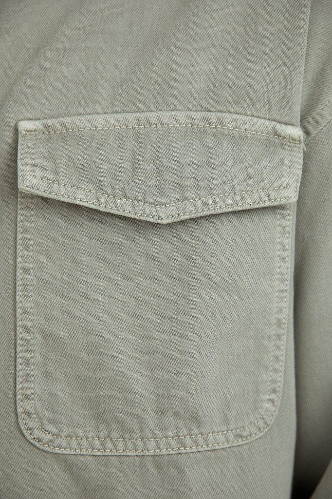 Рубашка из плотного хлопка, Модель B21-25020, Фото №5