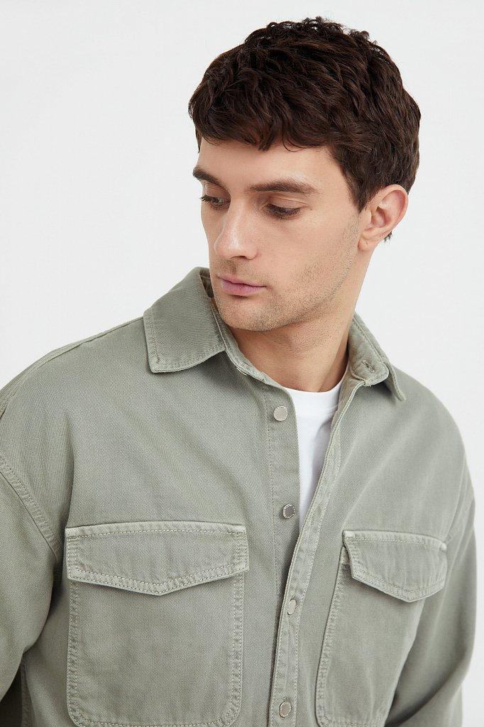 Рубашка из плотного хлопка, Модель B21-25020, Фото №6