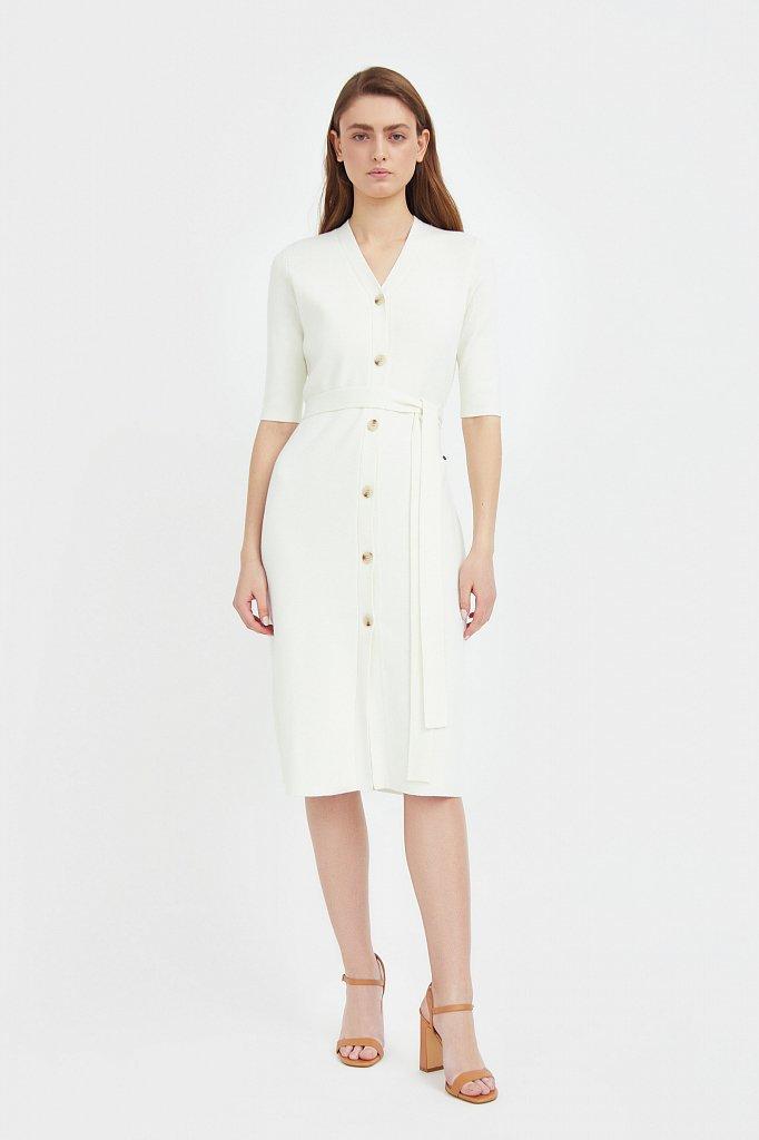 Трикотажное платье-рубашка с короткими рукавами, Модель B21-11146, Фото №1