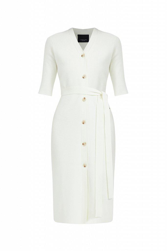 Трикотажное платье-рубашка с короткими рукавами, Модель B21-11146, Фото №7