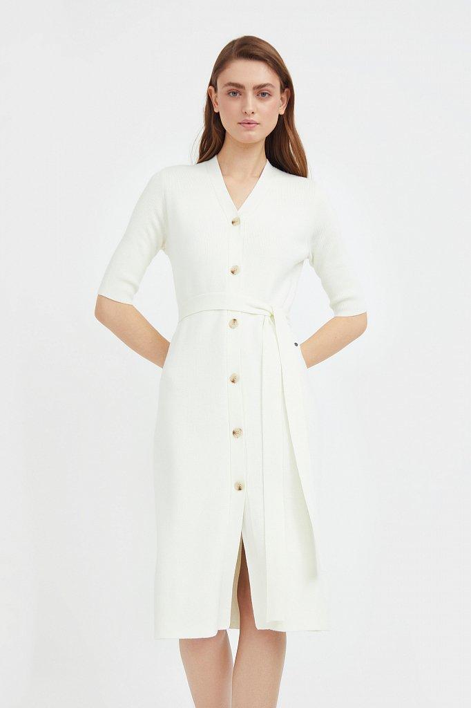 Трикотажное платье-рубашка с короткими рукавами, Модель B21-11146, Фото №2