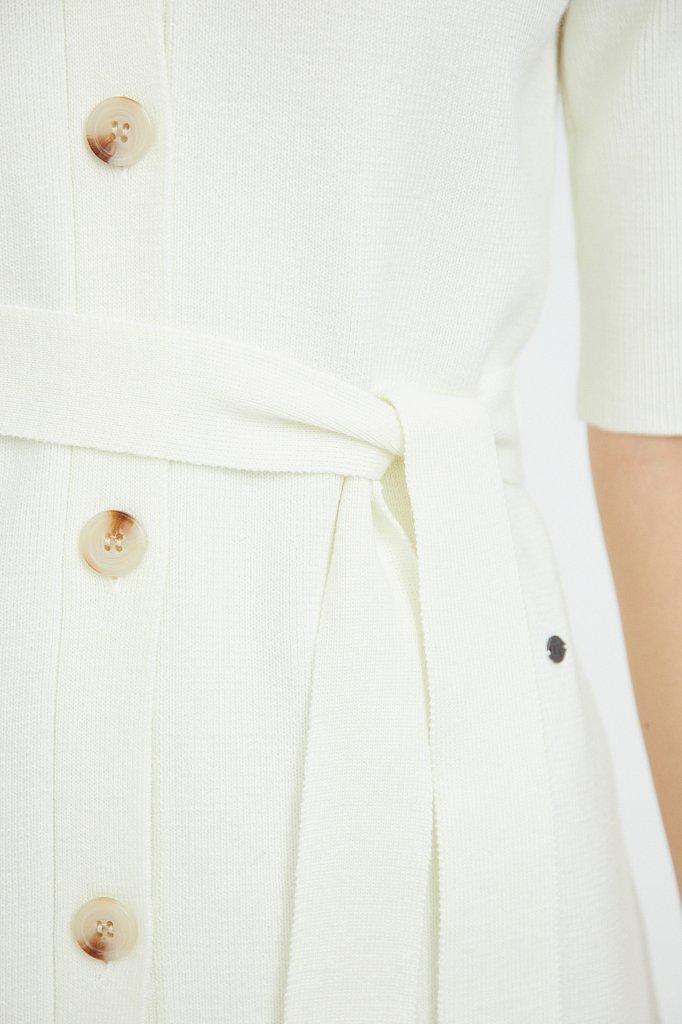 Трикотажное платье-рубашка с короткими рукавами, Модель B21-11146, Фото №5