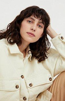 Куртка-рубашка из 100% хлопка B21-15025