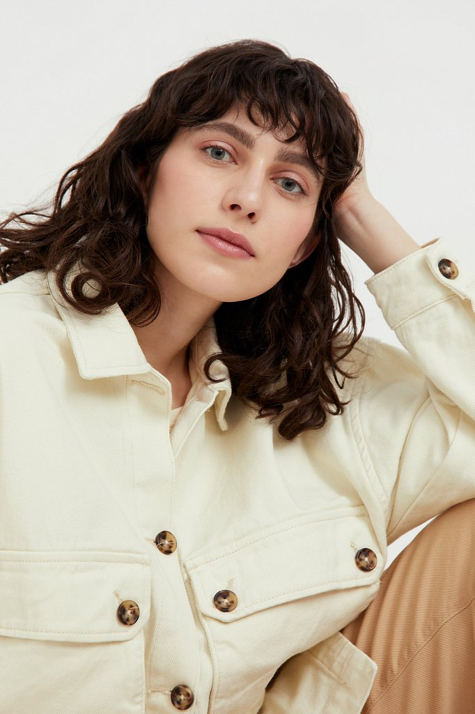 Куртка-рубашка из 100% хлопка, Модель B21-15025, Фото №1