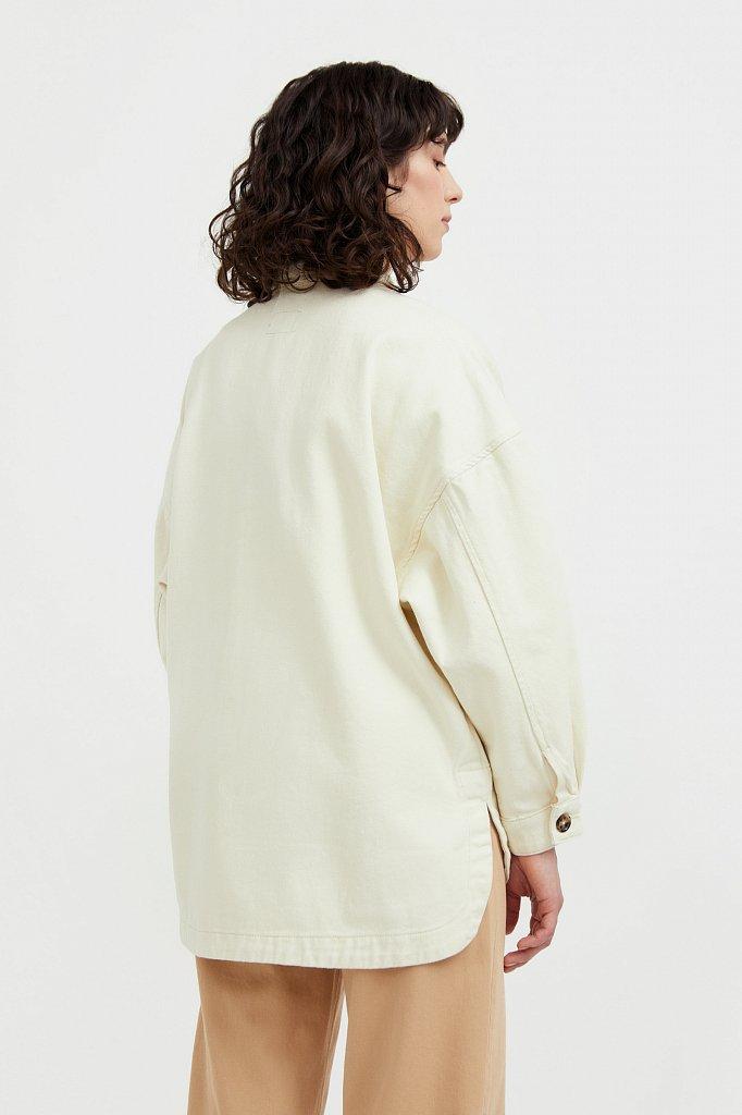 Куртка-рубашка из 100% хлопка, Модель B21-15025, Фото №5
