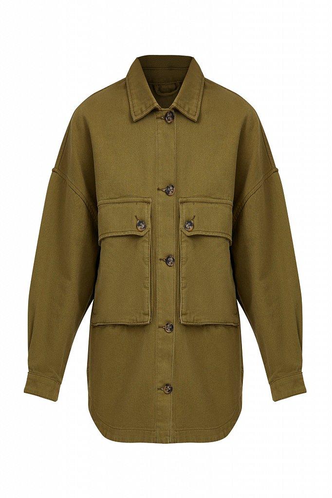 Куртка-рубашка из 100% хлопка, Модель B21-15025, Фото №8