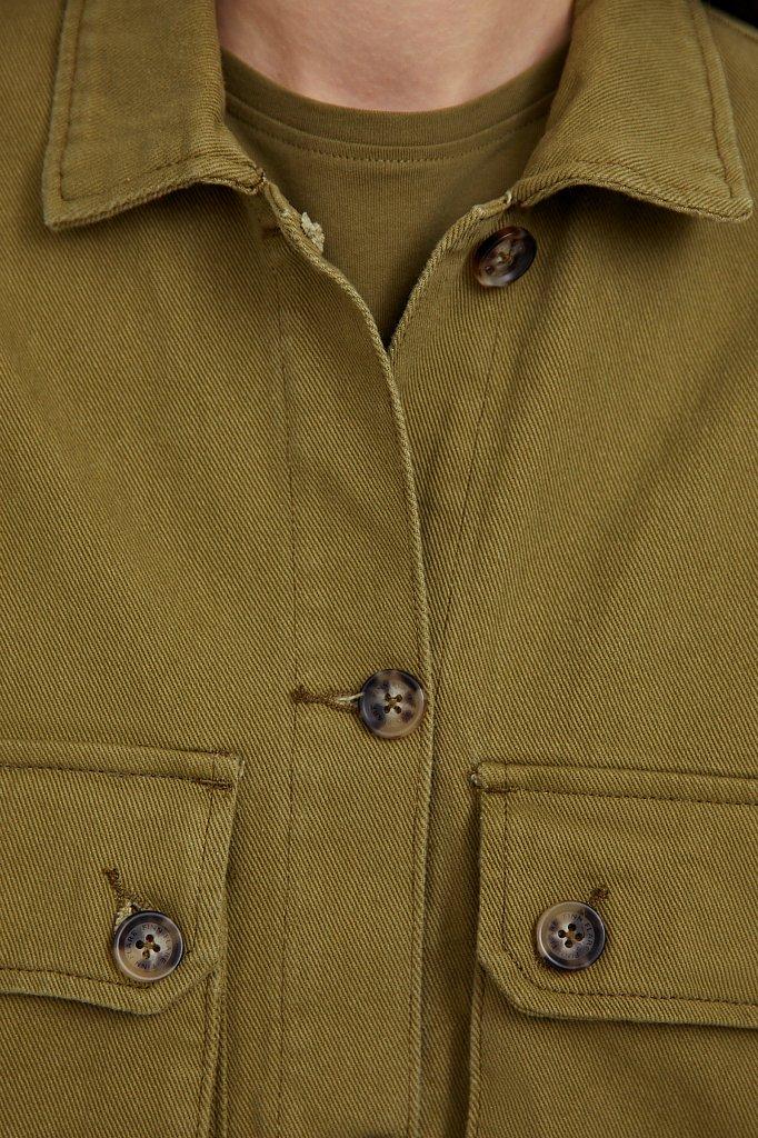 Куртка-рубашка из 100% хлопка, Модель B21-15025, Фото №6