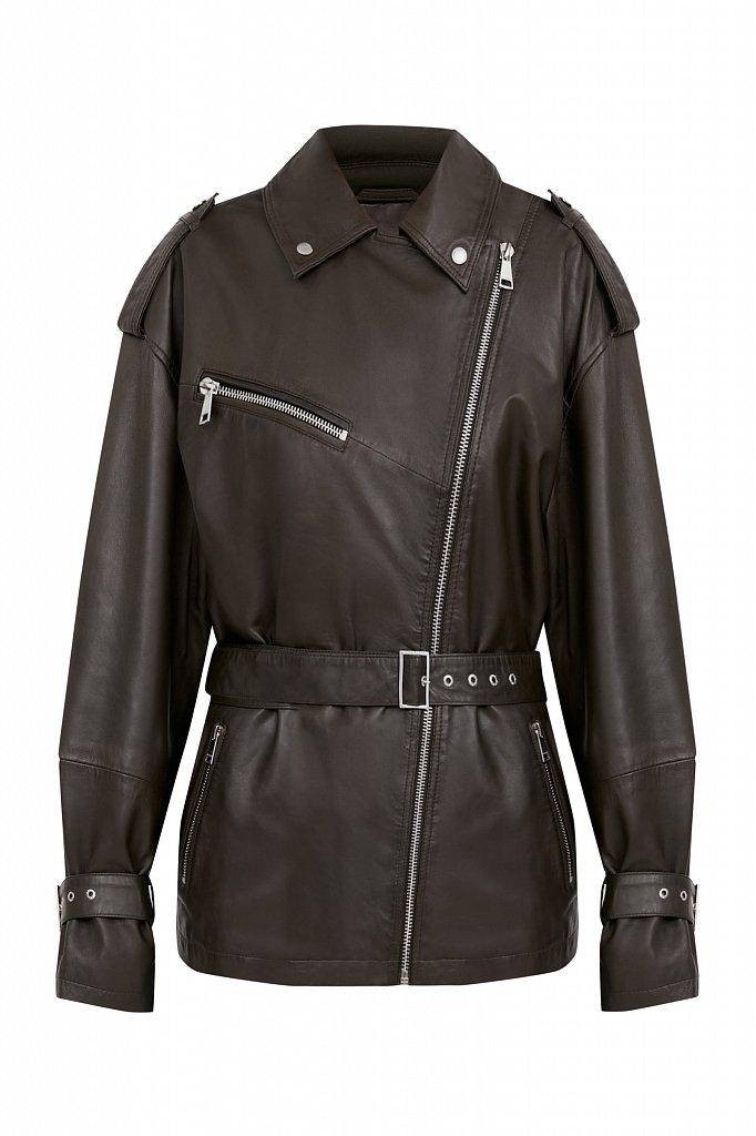 Куртка кожаная женская, Модель B21-11802, Фото №6