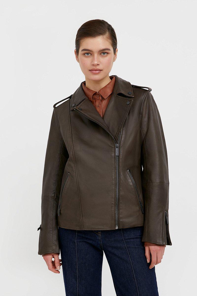 Куртка кожаная женская, Модель B21-11811, Фото №1
