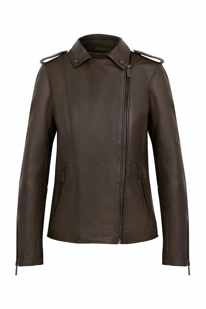 Куртка кожаная женская, Модель B21-11811, Фото №7