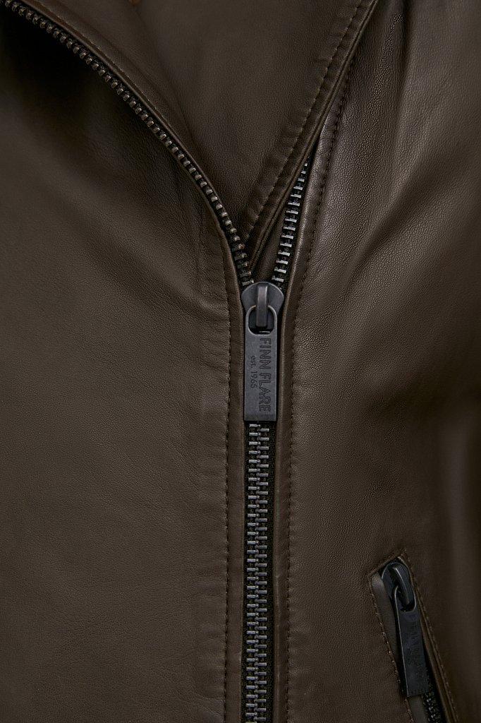 Куртка кожаная женская, Модель B21-11811, Фото №5