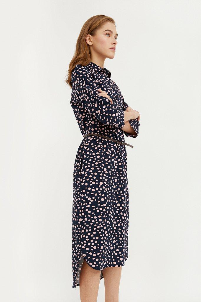 Платье с принтом из мягкой вискозы, Модель BA21-12071, Фото №3