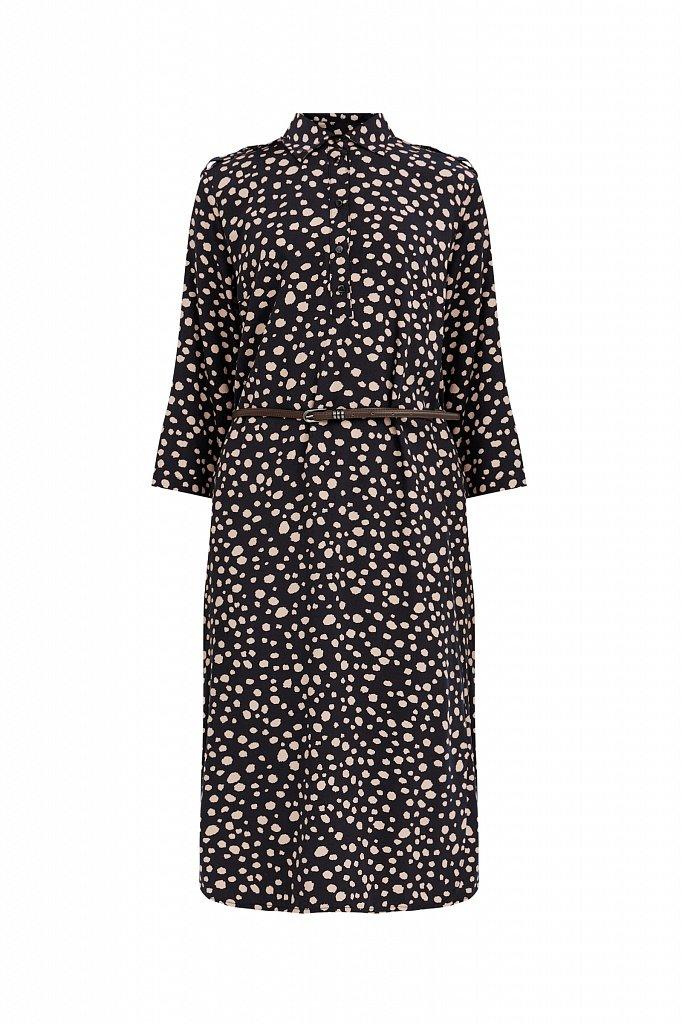 Платье с принтом из мягкой вискозы, Модель BA21-12071, Фото №7