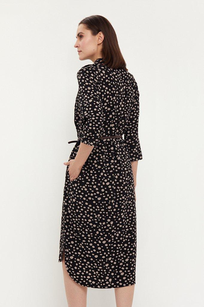 Платье с принтом из мягкой вискозы, Модель BA21-12071, Фото №4