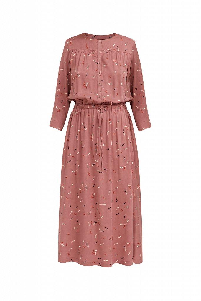 Платье на кулиске с растительным принтом, Модель BA21-12030, Фото №6
