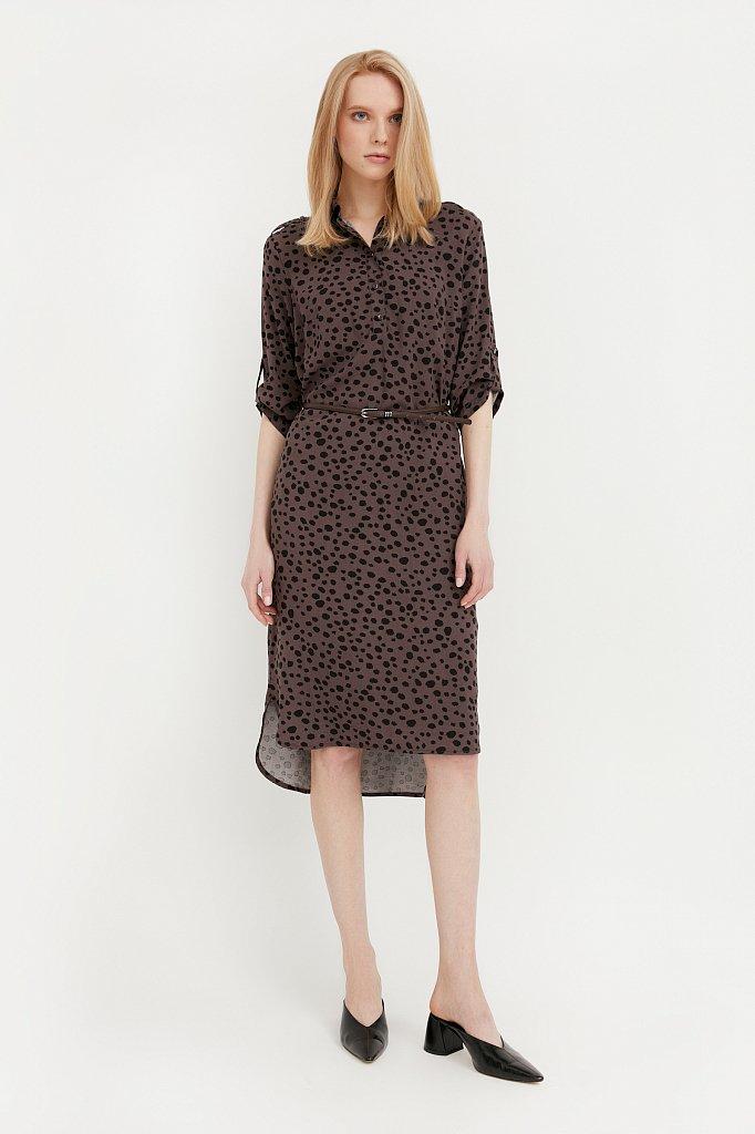 Платье с принтом из мягкой вискозы, Модель BA21-12071, Фото №2
