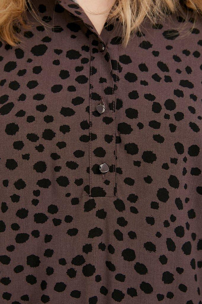 Платье с принтом из мягкой вискозы, Модель BA21-12071, Фото №5