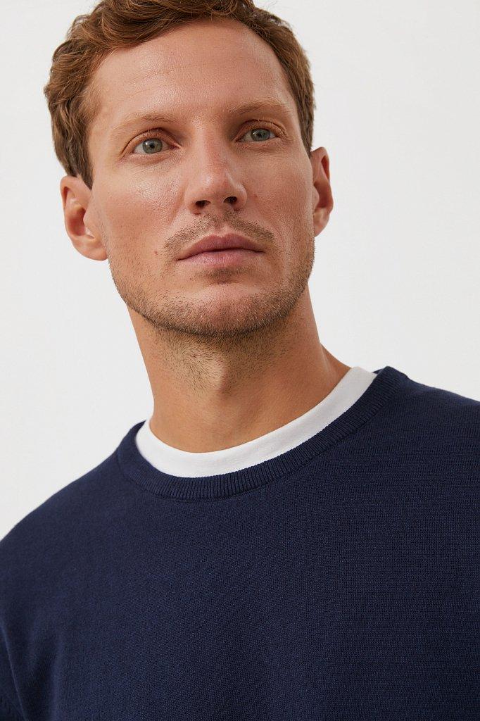 Базовый мужской джемпер прямого силуэта, Модель BAS-20100, Фото №6