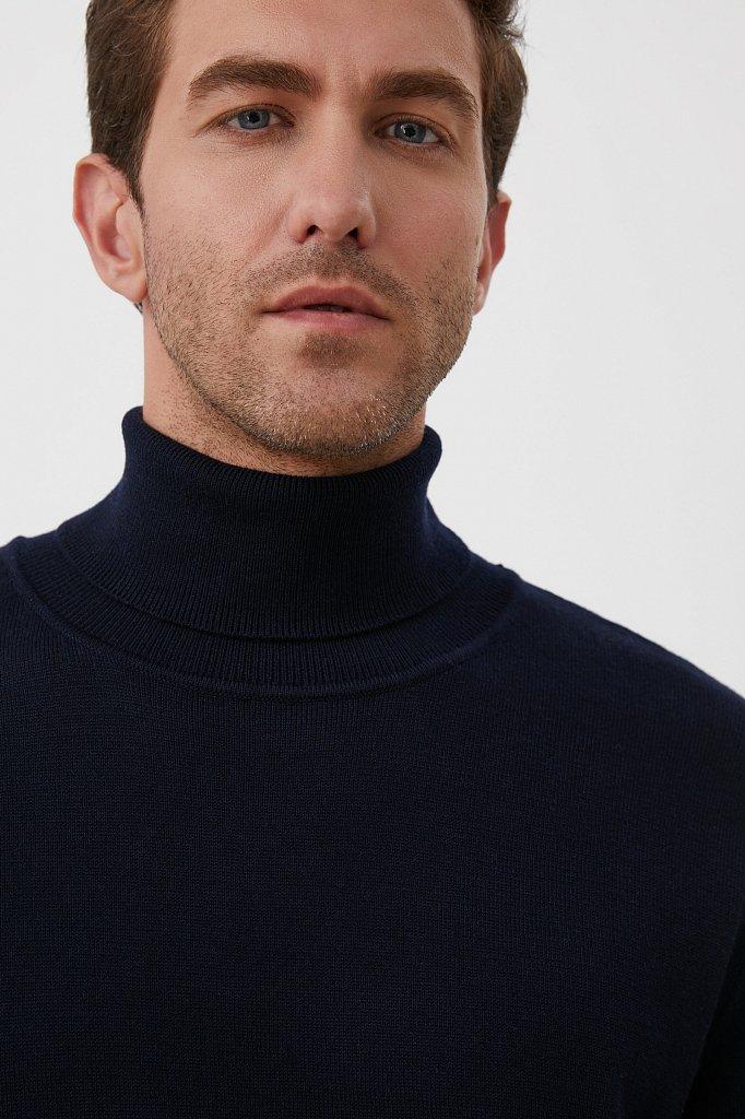 Трикотажная мужская водолазка прямого силуэта, Модель BAS-20105, Фото №6