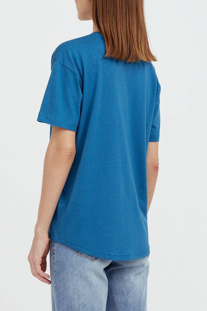 Базовая футболка с круглым вырезом, Модель BAS-10012, Фото №4