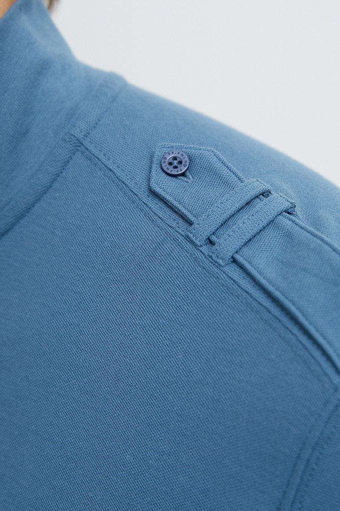 Базовый мужской лонгслив из натурального хлопка, Модель BAS-20031, Фото №6